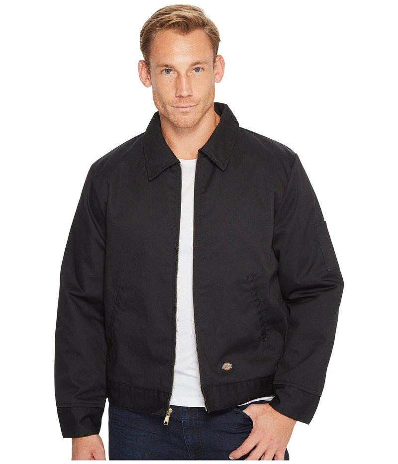 ディッキーズ メンズ コート アウター Insulated Twill Eisenhower Jacket Black