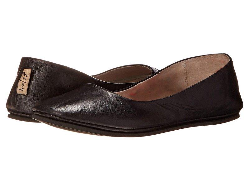 フレンチソール レディース サンダル シューズ Sloop Black Nappa Leather