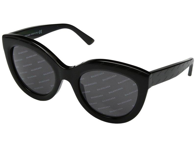 バレンシアガ レディース サングラス・アイウェア アクセサリー BA0133 Black Logomania/Smoke Logomania Lens
