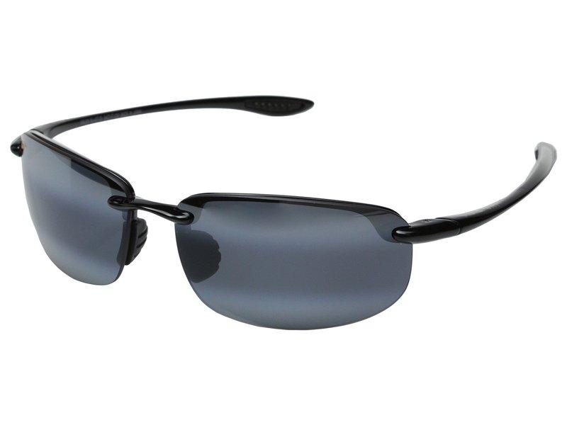 マウイジム メンズ サングラス・アイウェア アクセサリー Ho'okipa Gloss Black/Neutral Grey Lens