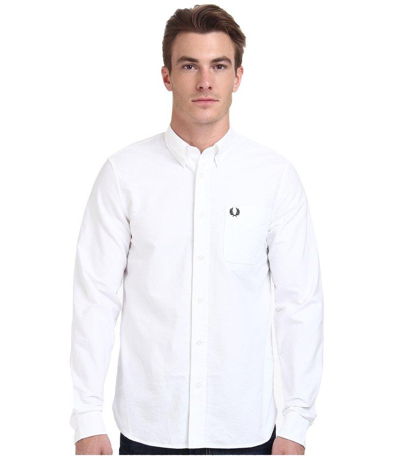 フレッドペリー メンズ シャツ トップス Classic Oxford Shirt White