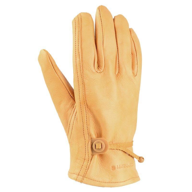 送料無料 サイズ交換無料 カーハート メンズ 公式ストア アクセサリー 在庫あり 手袋 Leather Brown Glove Driver