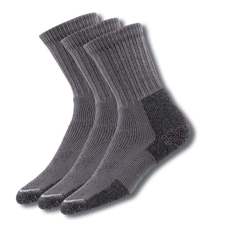 送料無料 サイズ交換無料 ソーロス メンズ アンダーウェア 靴下 Pewter 3 Padded ☆新作入荷☆新品 店内全品対象 Hiking Socks Thick Pair Pack Crew