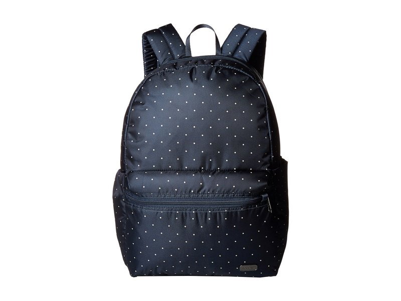 パックセーフ レディース バックパック・リュックサック バッグ Daysafe Anti-Theft Backpack Navy Polka Dot