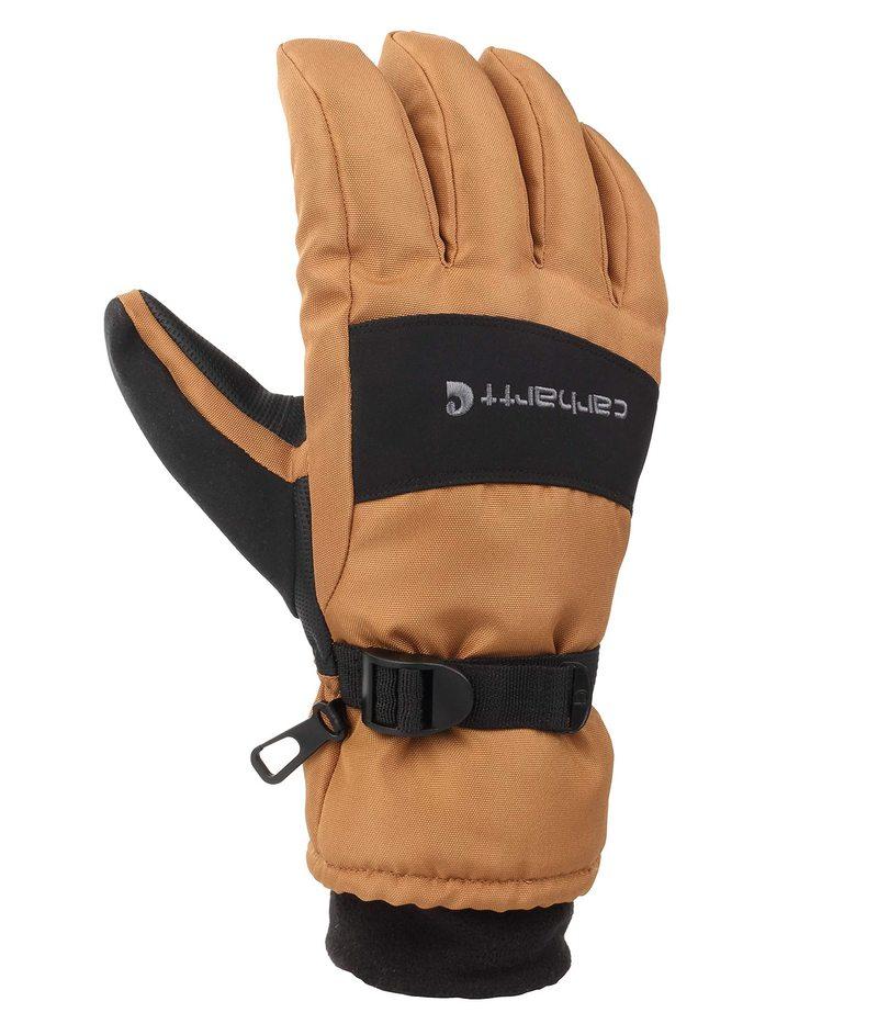 送料無料 サイズ交換無料 カーハート メンズ 店内限界値引き中&セルフラッピング無料 アクセサリー 手袋 Black Waterproof Brown Insulated Glove Wp 即納最大半額