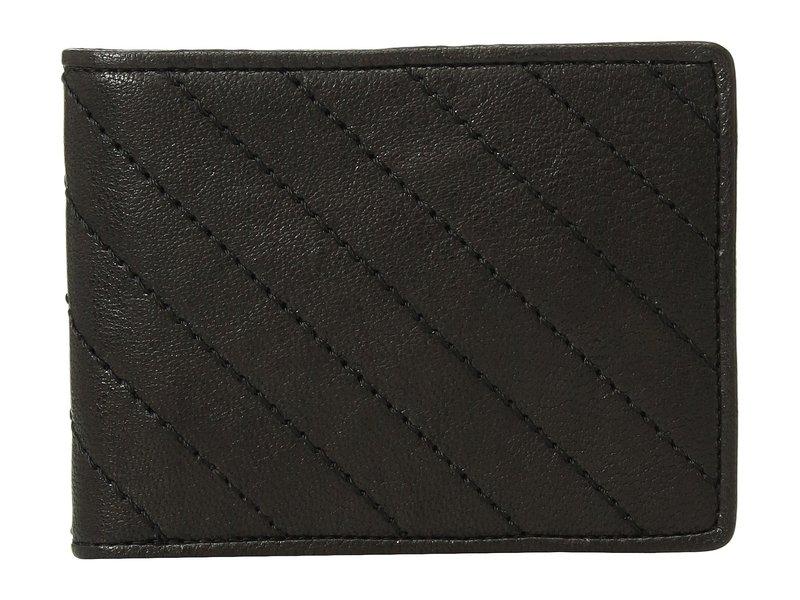 ボスカ メンズ 財布 アクセサリー Napoli Quilted Eight-Pocket Deluxe Executive Wallet Black