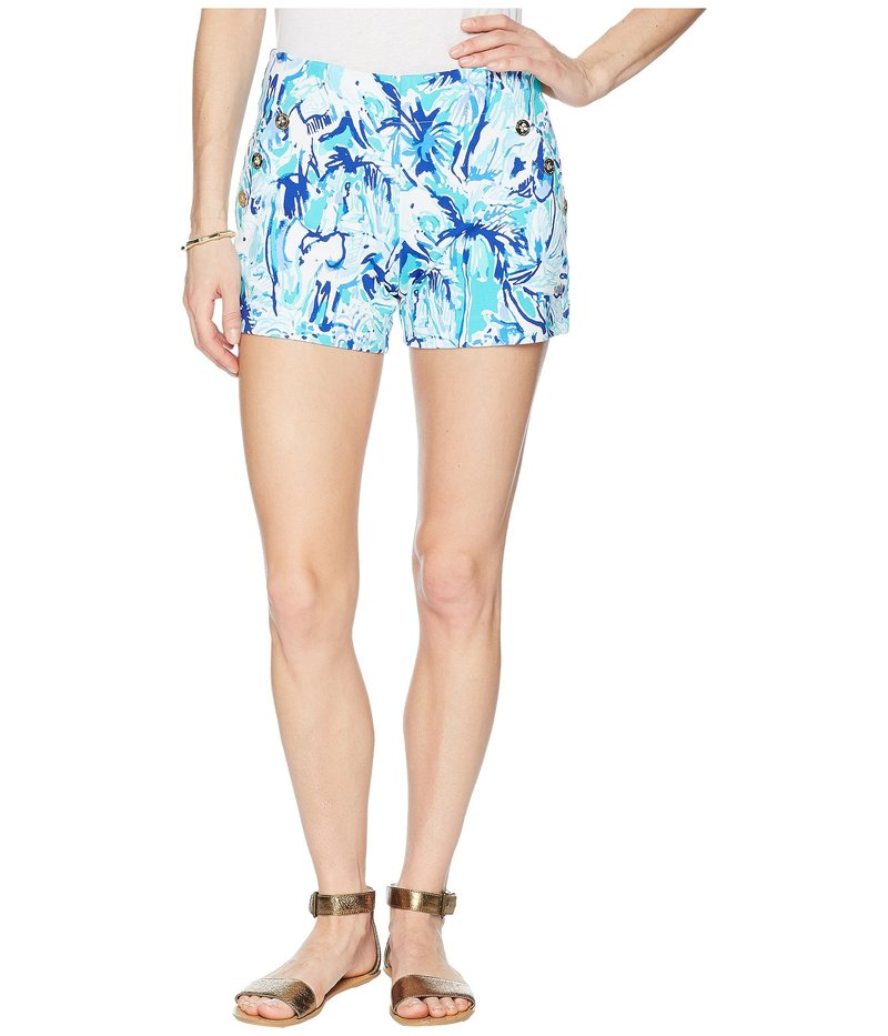 リリーピュリッツァー レディース ハーフパンツ・ショーツ ボトムス Marina Knit Shorts Tropical Turquoise Elephant Appeal