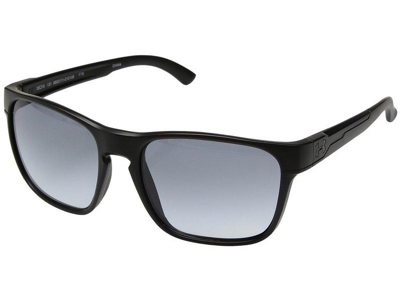 アンダーアーマー メンズ サングラス・アイウェア アクセサリー UA Glimpse Satin Black/Black Frame/Gray Gradient Lens 18