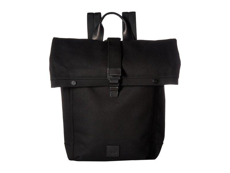 クノモ メンズ バックパック・リュックサック バッグ Fulham Novello Roll Top Backpack Black