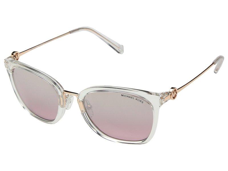 マイケルコース レディース サングラス・アイウェア アクセサリー 0MK2064 53mm Clear Crystal/Grey Pink Flash