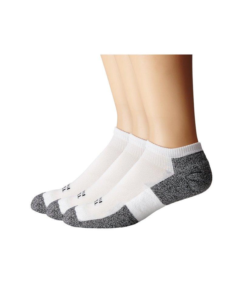 ソーロス メンズ 靴下 アンダーウェア Lite Running Micro-Mini 3-Pair Pack White/Black