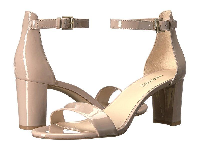 ナインウェスト レディース サンダル シューズ Pruce Block Heel Sandal Natural Sleek Patent PU