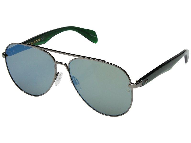 ラグアンドボーン メンズ サングラス・アイウェア アクセサリー RNB5003/S Ruthenium Khaki/Mirror Blue