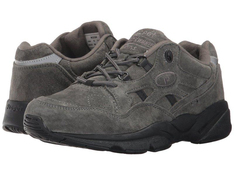 プロペット レディース スニーカー シューズ Stability Walker Medicare/HCPCS Code = A5500 Diabetic Shoe Pewter Suede