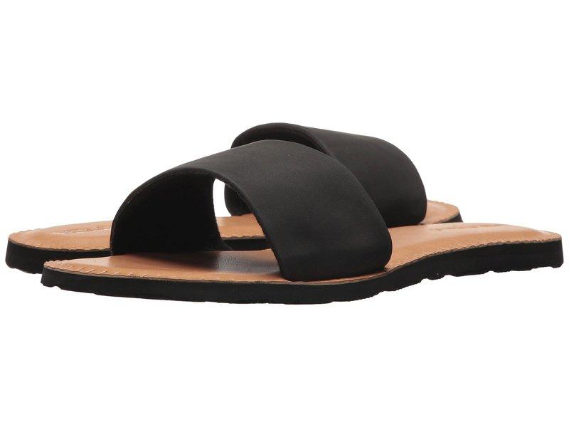 ボルコム レディース サンダル シューズ Simple Slide Sandals Black