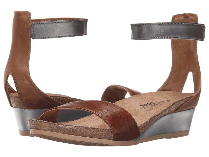 ナオト レディース サンダル シューズ Pixie Maple Brown Leather/Latte Brown Leather/Mirror Leather