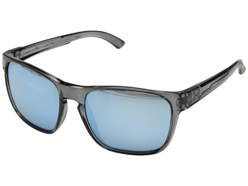 アンダーアーマー メンズ サングラス・アイウェア アクセサリー UA Glimpse Gloss Crystal Smoke/Crystal Smoke Frame/Blue Multiflection Len 1