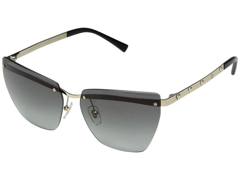 ヴェルサーチ レディース サングラス・アイウェア アクセサリー VE2190 Pale Gold/Grey Gradient