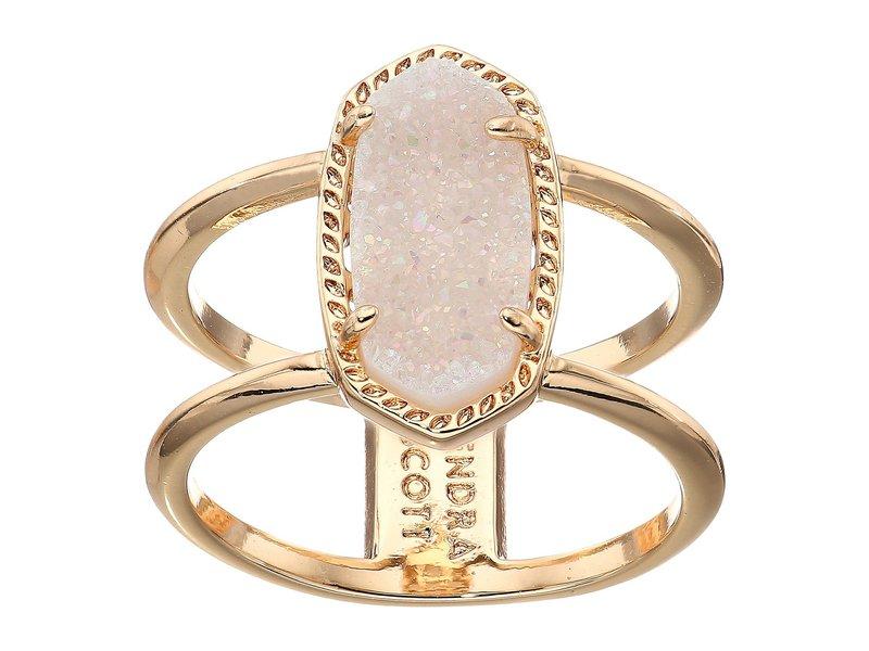 ケンドラスコット レディース リング アクセサリー Elyse Ring Rose Gold/Iridescent Drusy
