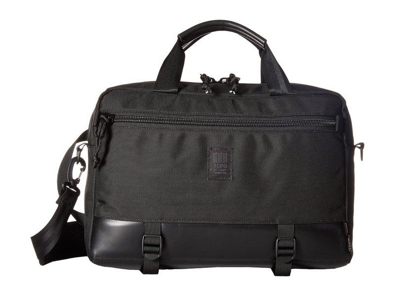 トポ・デザイン メンズ ビジネス系 バッグ Commuter Briefcase Ballistic Black/Black Leather