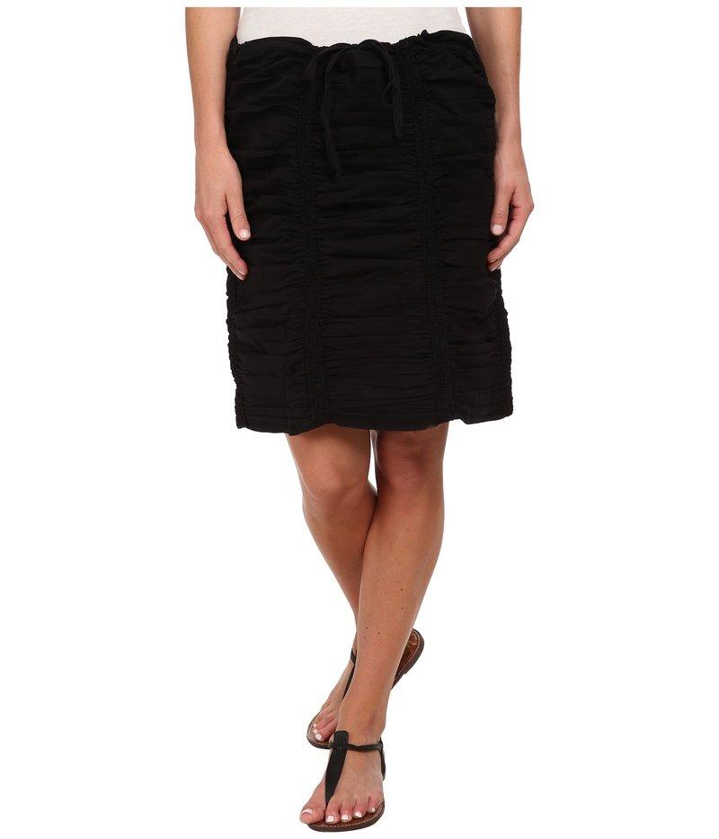 エックスシーブイアイ レディース スカート ボトムス Double Shirred Panel Knee Length Skirt Black