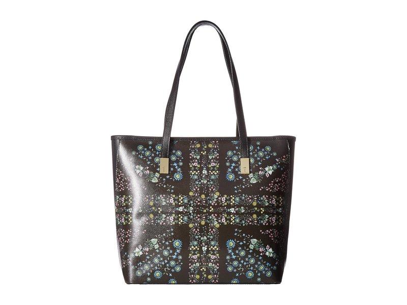 テッドベーカー レディース ハンドバッグ バッグ Unity Floral Leather Shopper Black