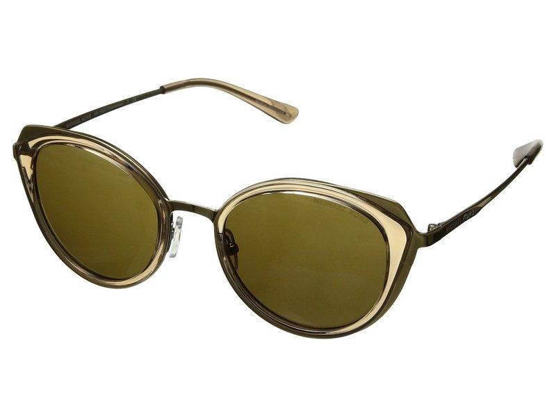 マイケルコース レディース サングラス・アイウェア アクセサリー 0MK1029 52mm Brown Transparent/Olive Solid