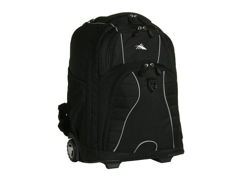ハイシエラ メンズ バックパック・リュックサック バッグ Freewheel Wheeled Backpack Black