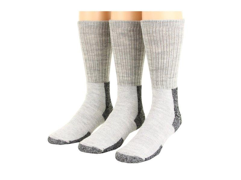 ソーロス メンズ 靴下 アンダーウェア Thick Cushion Hiking Wool Blend 3-Pack Gray/Black