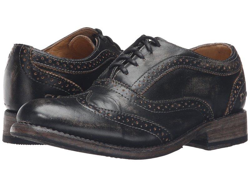 ベッドステュ レディース オックスフォード シューズ Lita Black Handwash Leather