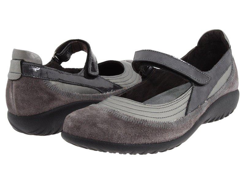 ナオト レディース サンダル シューズ Kirei Sterling Leather/Gray Suede/Gray Patent Leather