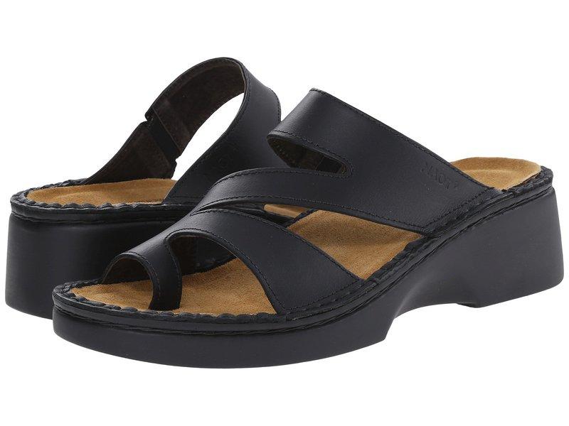 ナオト レディース サンダル シューズ Monterey Black Matte Leather