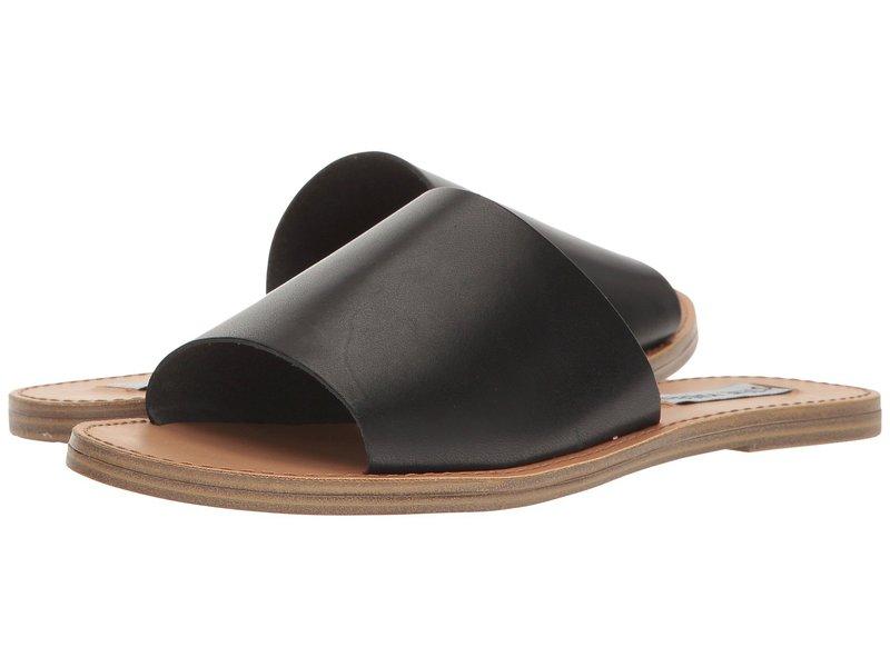 スティーブ マデン レディース サンダル シューズ Grace Slide Sandal Black Leather
