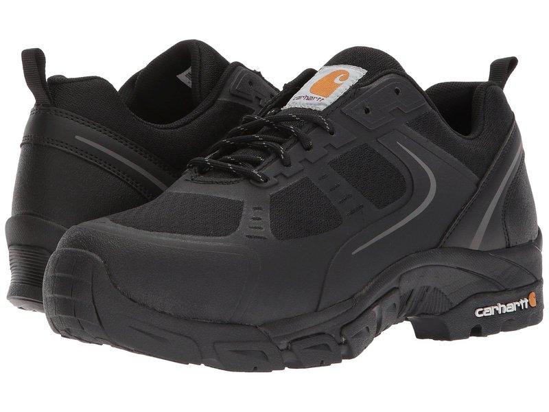 カーハート メンズ スニーカー シューズ Lightweight Low Work Hiker Boot Steel Toe Black Nylon Mesh