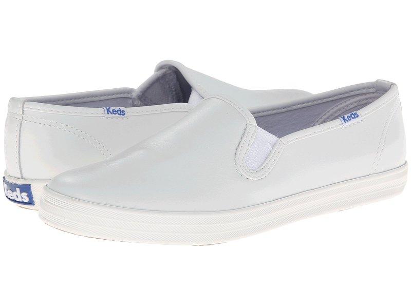 ケッズ レディース スニーカー シューズ Champion-Leather Slip-On White Leather