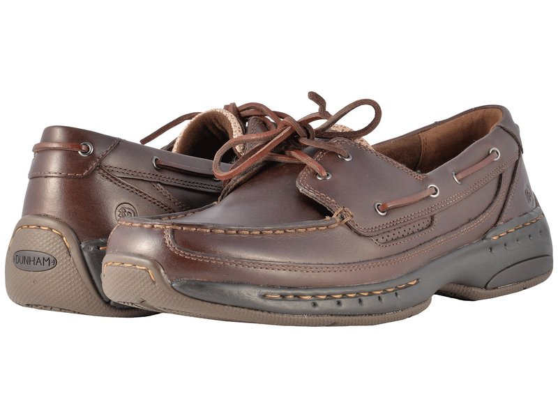 ダナム メンズ デッキシューズ シューズ Shoreline Brown Leather
