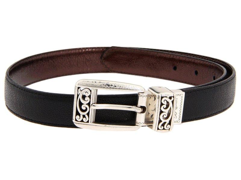 ブライトン レディース ベルト アクセサリー Mantilla 1 Reversible Belt Black/Bronze