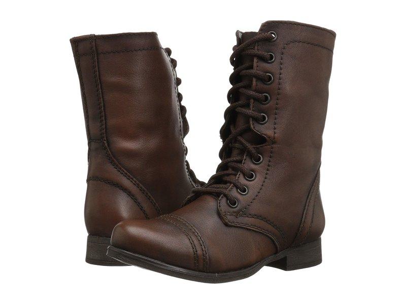スティーブ マデン レディース ブーツ・レインブーツ シューズ Troopa Combat Boot Brown Leather