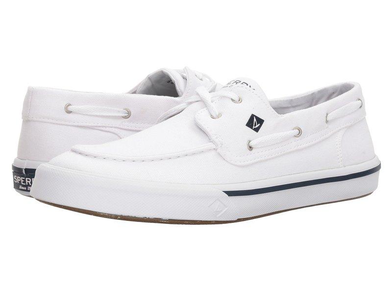 スペリー メンズ デッキシューズ シューズ Bahama II Boat Washed Sneaker White