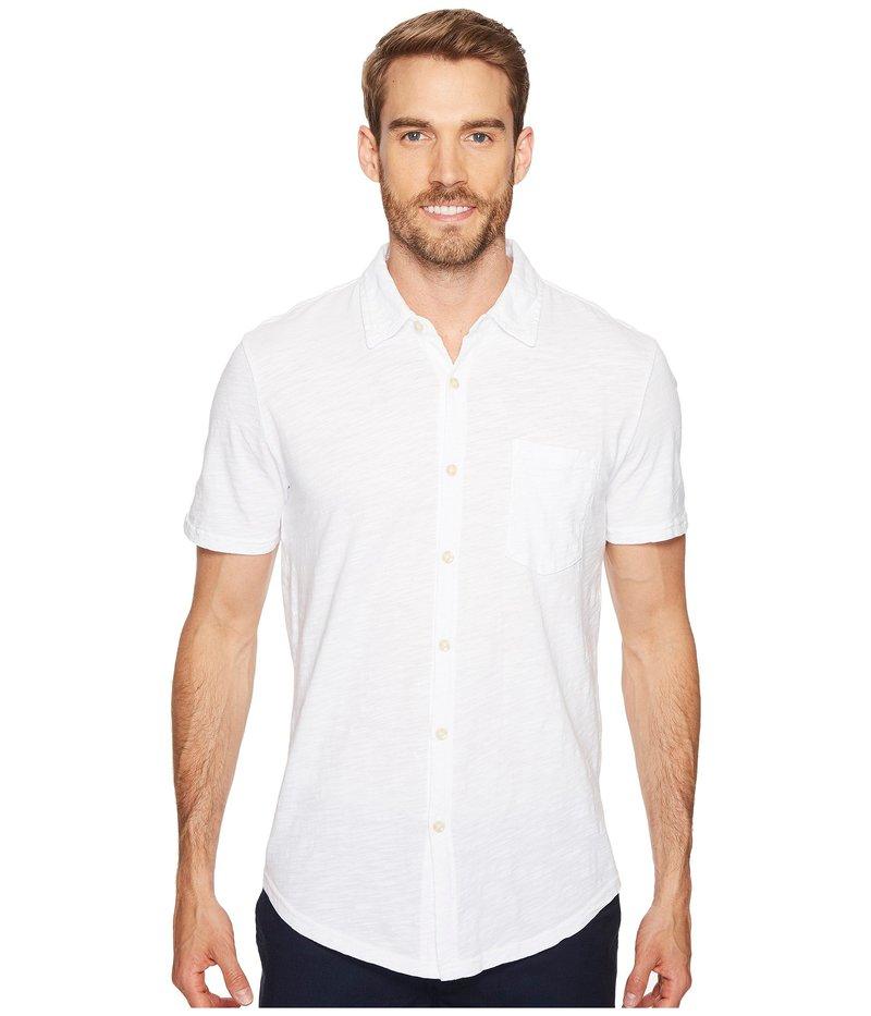 モッドドック メンズ シャツ トップス Montana Short Sleeve Button Front Shirt White