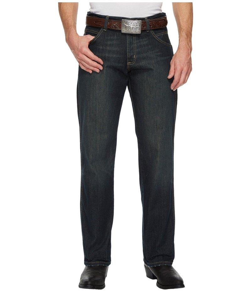 ラングラー メンズ デニムパンツ ボトムス Retro Relaxed Straight Jeans Worn Black