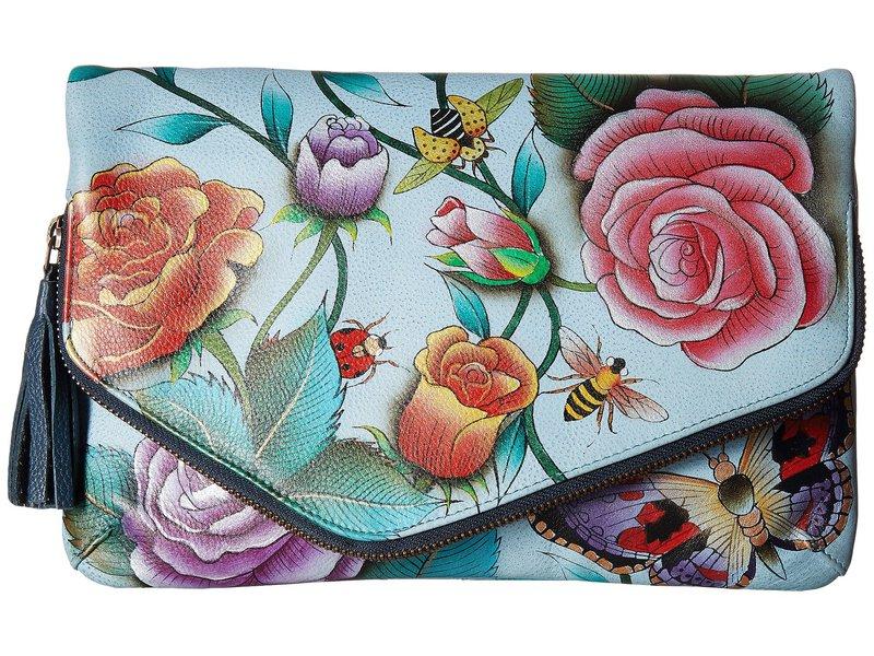 アヌスカ レディース ハンドバッグ バッグ 607 Convertible Envelope Clutch Wristlet Roses D'Amour