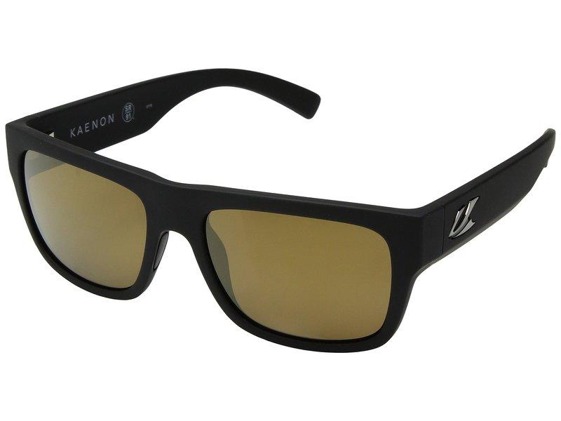 カエノン メンズ サングラス・アイウェア アクセサリー Montecito Black Matte Grip Brown 12-Polarized Gold Mirror