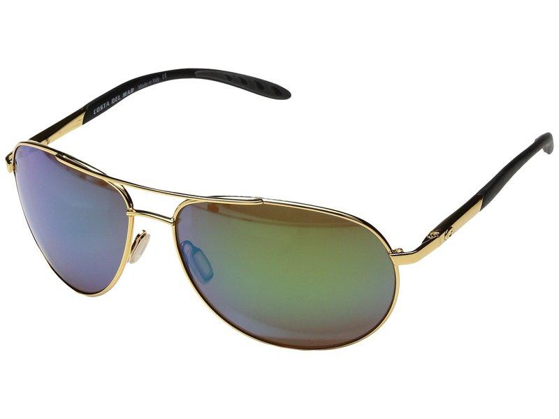 コスタ メンズ サングラス・アイウェア アクセサリー Wingman 580 Plastic Gold Frame/Green Mirror Glass W580