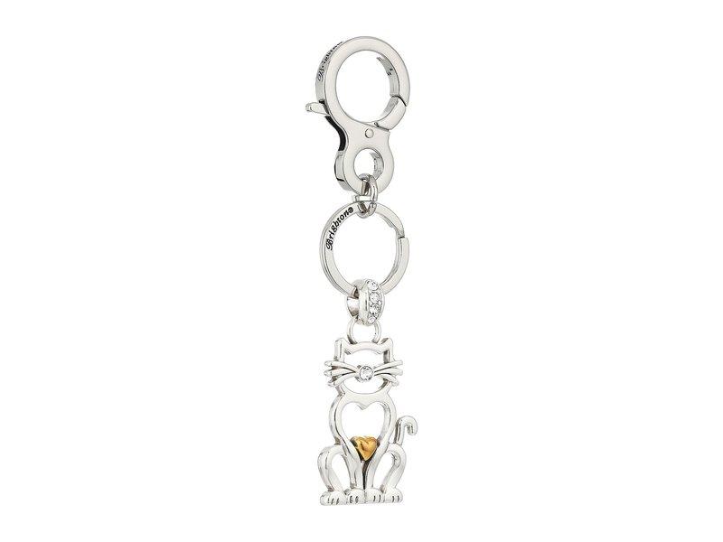 ブライトン レディース キーケース・キーリング アクセサリー Cleo Cat Handbag Fob Crystal