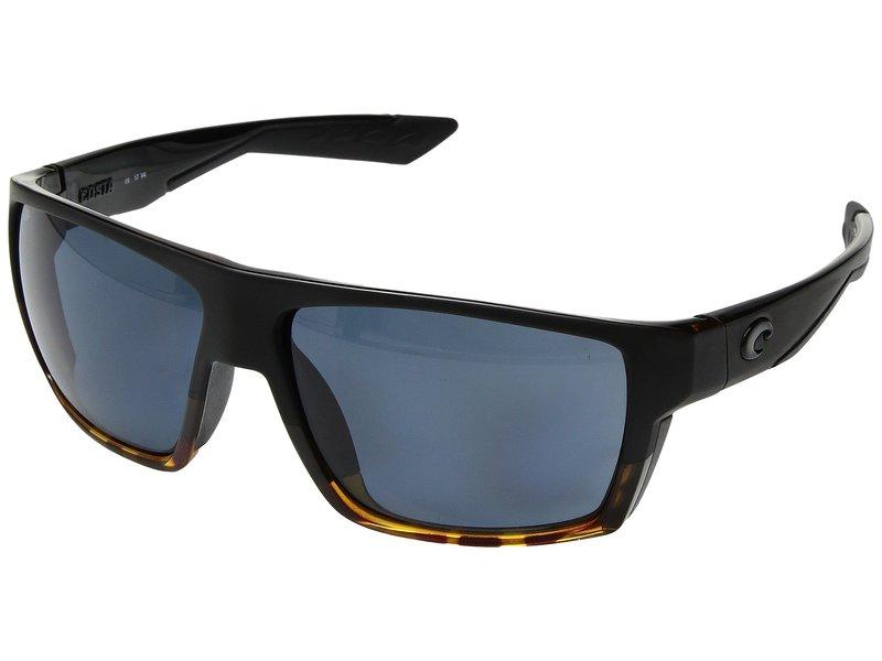 コスタ メンズ サングラス・アイウェア アクセサリー Bloke Matte Black/Shiny Tortoise Frame/Gray 580P