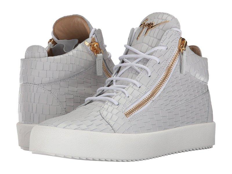 ジュゼッペザノッティ メンズ スニーカー シューズ May London Mid Top Zayn Sneaker White