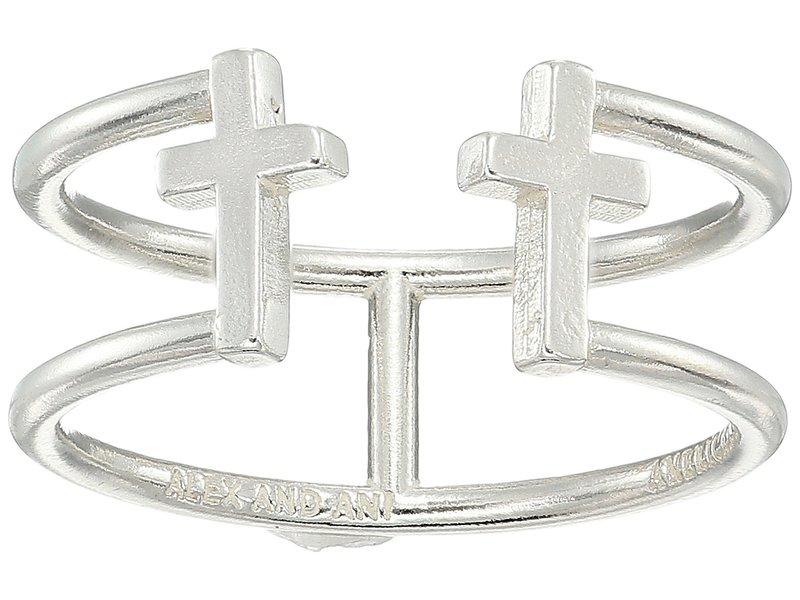 アレックスアンドアニ レディース リング アクセサリー Cross Ring Sterling Silver