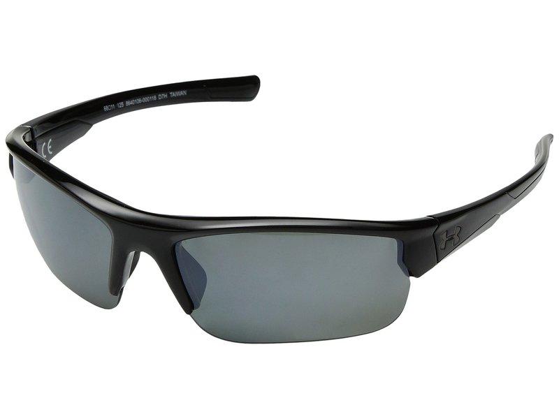 アンダーアーマー メンズ サングラス・アイウェア アクセサリー Propel Storm Shiny Black/Black Frame/Gray Polarized/Silver Mirror Lens