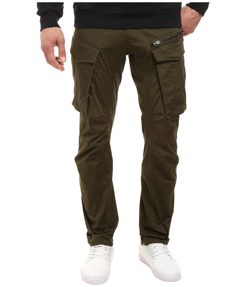 ジースター メンズ デニムパンツ ボトムス Rovic Zip 3D Tapered Jeans in Premium Micro Stretch Twill Dark Bronze Green Premium Micro Stretch Twill Dark Bronze Green